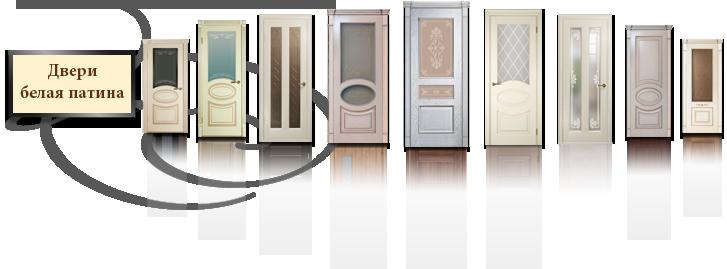 Межкомнатные двери Белая патина